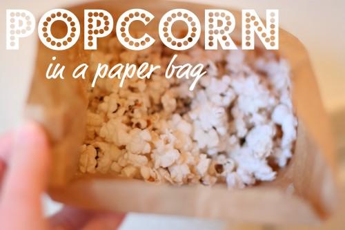 popcorn 500x333 Popcorn in a Paper Bag