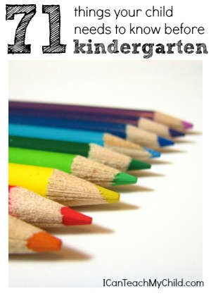 71 Things Your Child Needs to Know Before Kindergarten 300x420 71 Things Your Child Needs to Know Before Kindergarten