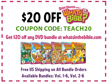 coupon1 Winners of the Whats in the Bible? Bundles (and a discount for everyone else)