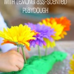 Flower Patterning with Lemongrass-Scented Playdough