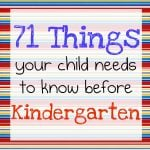 kindergarten 150x150 33 Ways to Prepare Your Child for Kindergarten