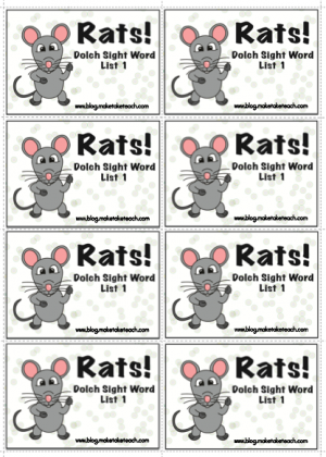 rats 300x420 Learning Sight Words
