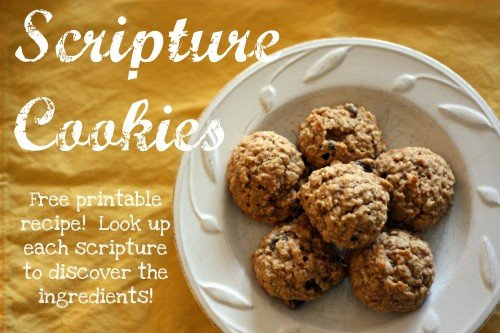 scripture cookies 500x333 Scripture Cookies  (with free printable recipe)
