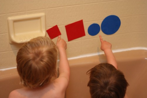 learn shapes in the bath