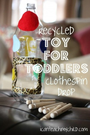 clothespin drop 2 300x449 12 Ways to Repurpose Household Items for Your Kids