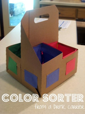 color sorter 2 300x400 12 Ways to Repurpose Household Items for Your Kids