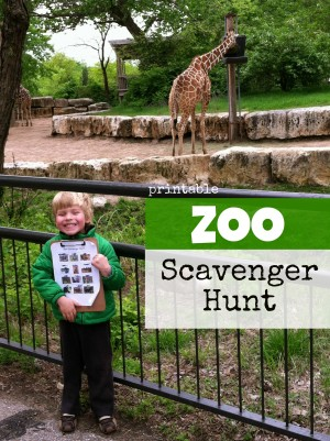 zoo photo 300x401 Printable Zoo Scavenger Hunt
