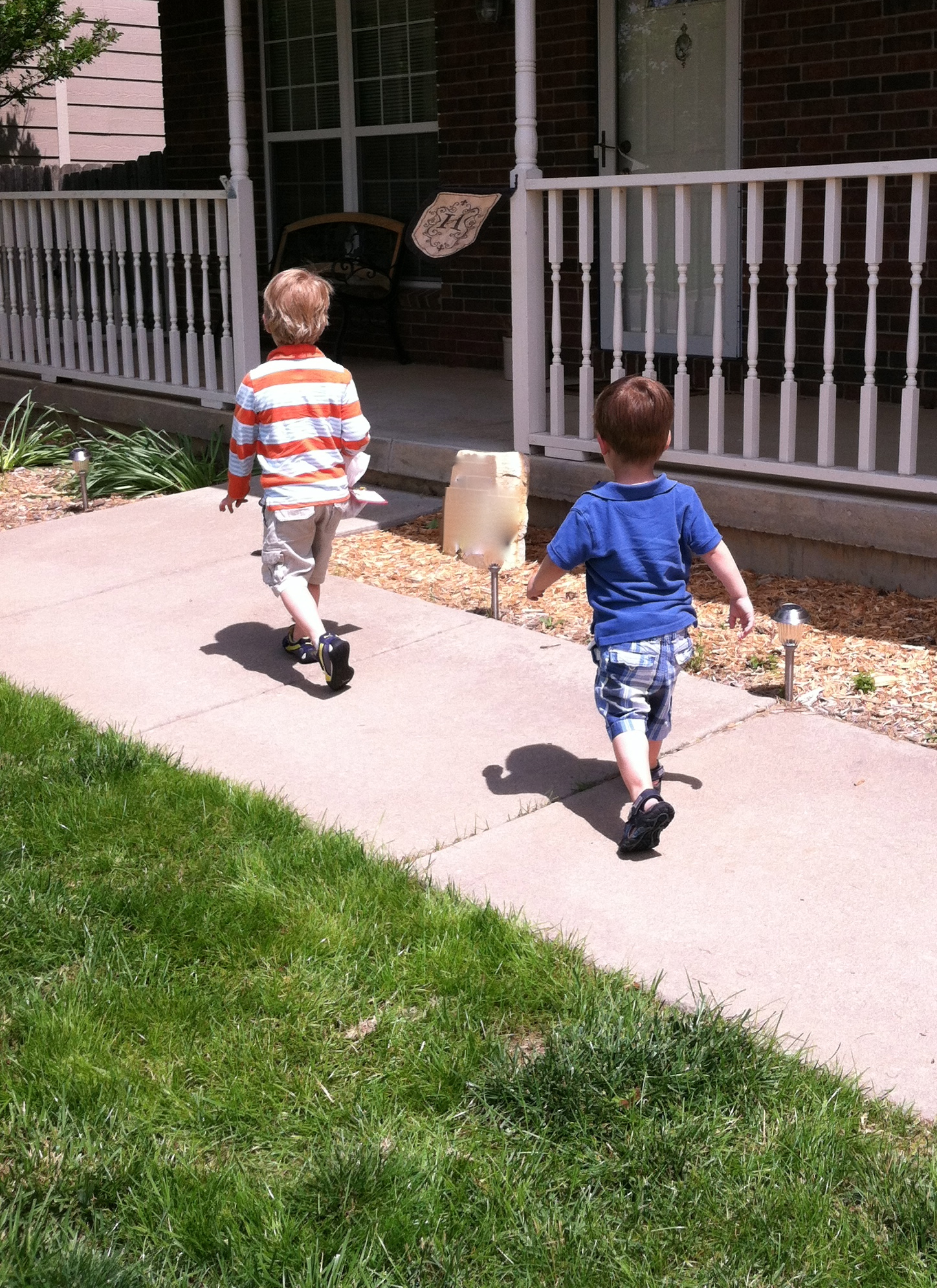 Child Running Away From Home - But their favorite part was running away after they rang the door bell