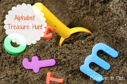alphabet treasure hunt Show and Share Saturday Link Up!