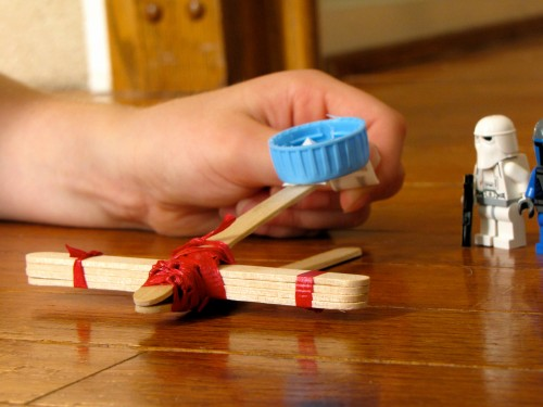 popsicle stick catapult 500x375 Show and Share Saturday Link Up!