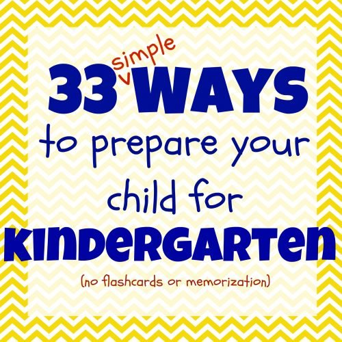 33 Simple Ways to Prepare Your Child for Kindergarten 500x500 33 Ways to Prepare Your Child for Kindergarten