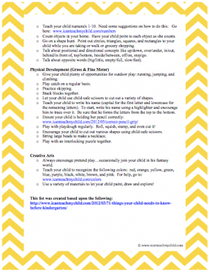 33 Ways to Prepare Your Child for Kindergarten Page 2 300x389 33 Ways to Prepare Your Child for Kindergarten