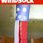 4th of July Apple-Stamped Windsock