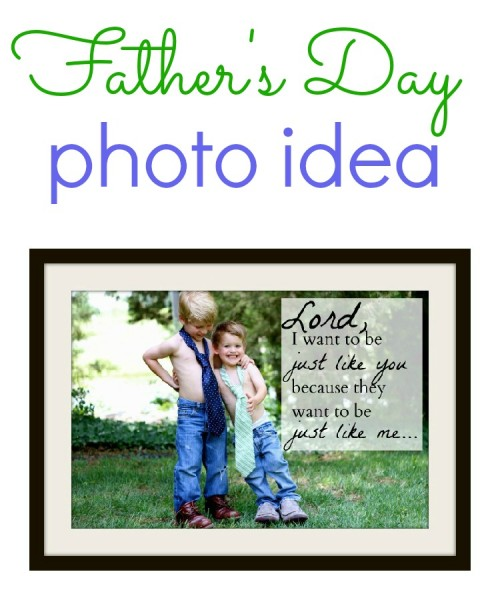 Father's Day Photo Idea - Just Like Daddy
