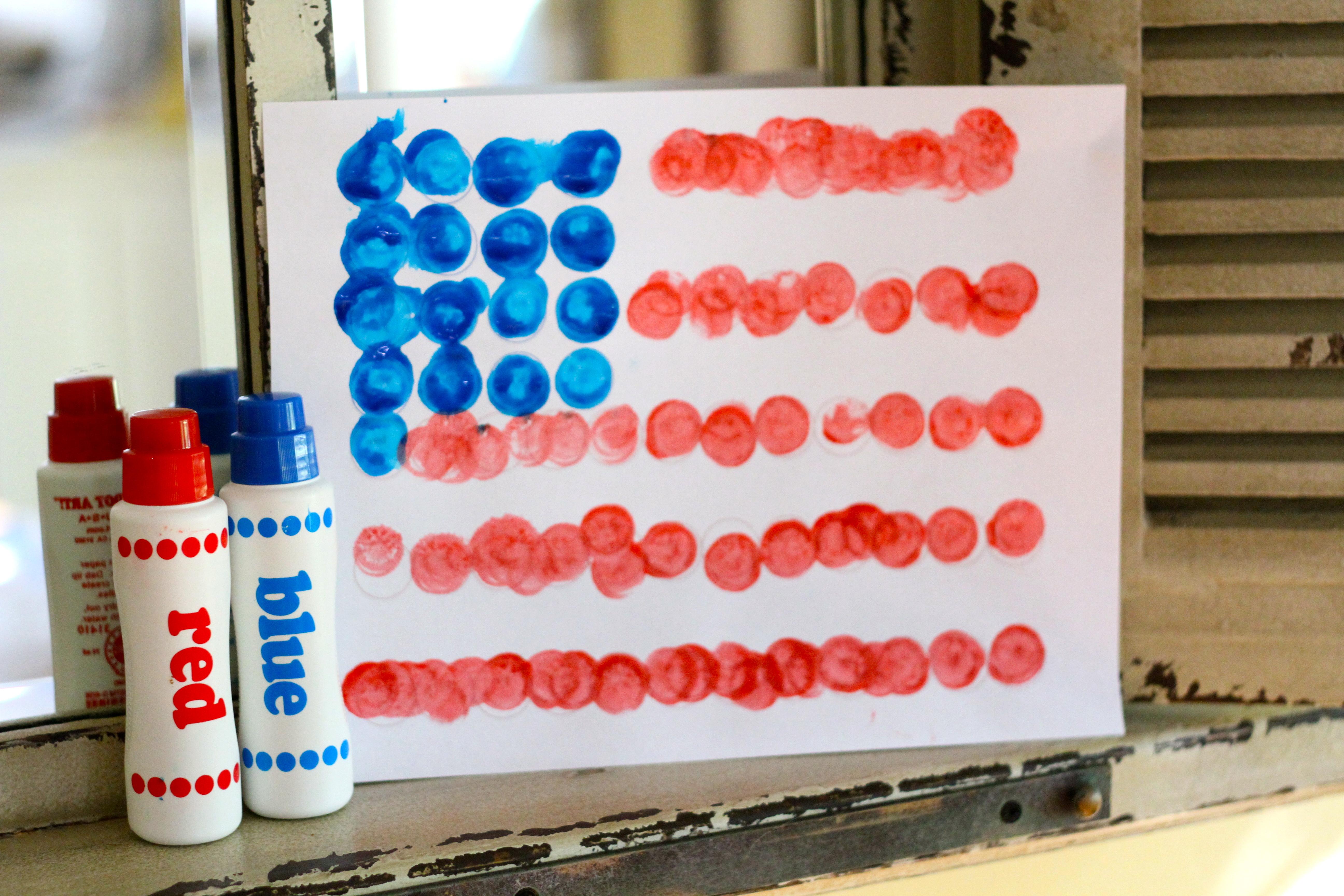 Dot Art Flag (free printable)