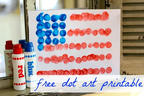 dot art printable 500x333 Dot Art Flag (free printable)