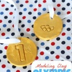 Olympic Medals:  Made using Baking Soda Modeling Clay