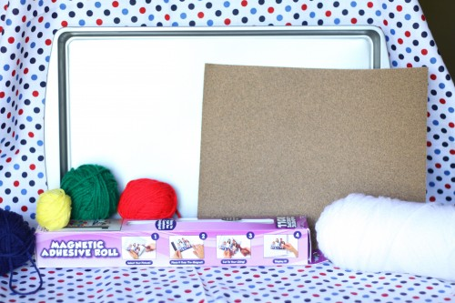 IMG 1930 500x333 Cookie Sheet Travel Activity:  Magnetic Sandpaper and Yarn