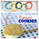 Olympic Cookies:  Gold Medals & Olympic Rings