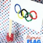 Olympic Flag Craft 150x150 Fabric Collage Easter Baskets
