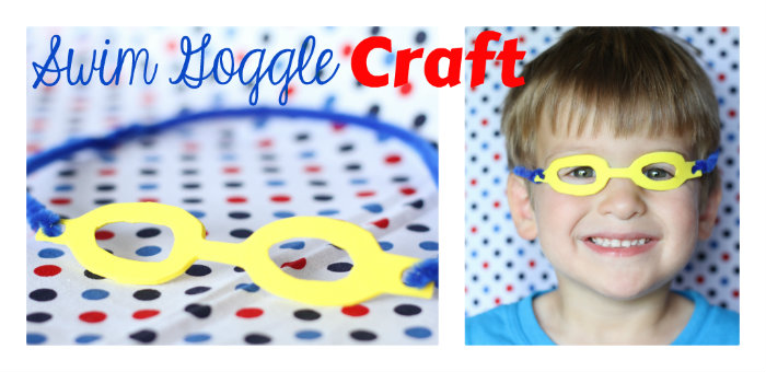 Swim goggles craft i can teach my child Valentine pool swimming lessons