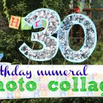 Birthday Numeral Photo Collage