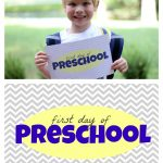 "Free ""First Day of School"" Printables"