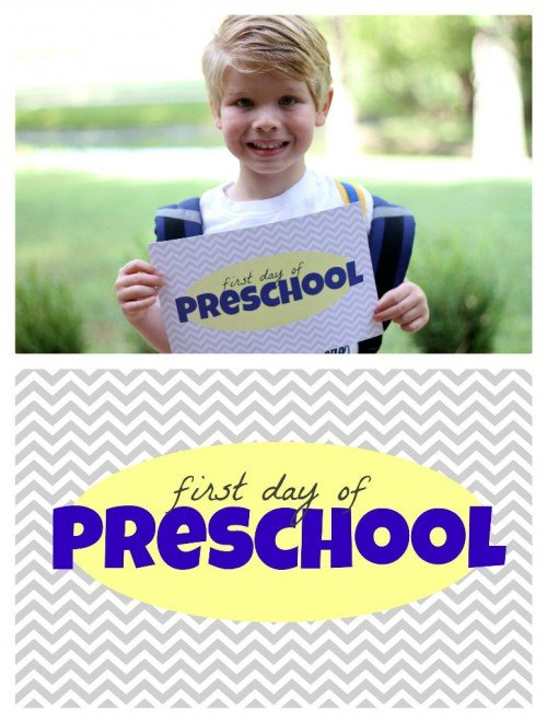 First Day of School Printable 500x661 Free First Day of School Printables