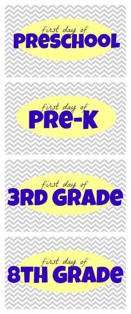 First Day of School Printables 417x1000 Free First Day of School Printables