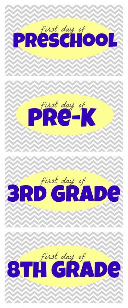 image relating to First Day of Preschool Free Printable identify Absolutely free \