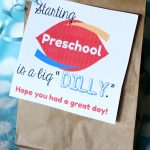 "Starting School is a Big ""Dilly"":  Printable Tags for Dilly Bars"