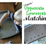 Magnetic Uppercase Lowercase Matching 150x150 Clothespin Capital & Lowercase Matching Activity