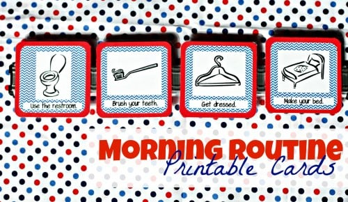 Morning Routine Printable Cards 500x290 Printable Morning Routine Cards