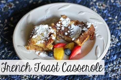 Overnight French Toast Casserole 500x333 French Toast Casserole