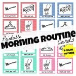 Printable Morning Routine Cards 150x150 Free First Day of School Printables
