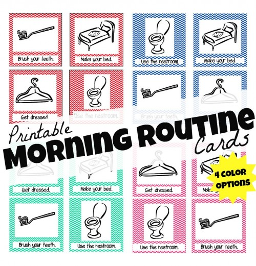 Printable Morning Routine Cards 500x521 Printable Morning Routine Cards