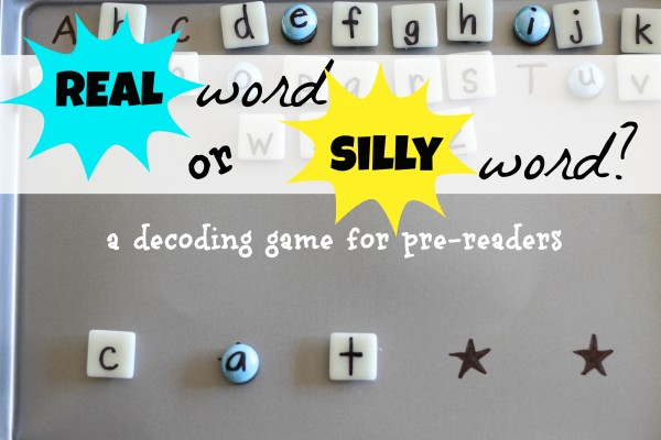 real word or silly word   decoding game for pre