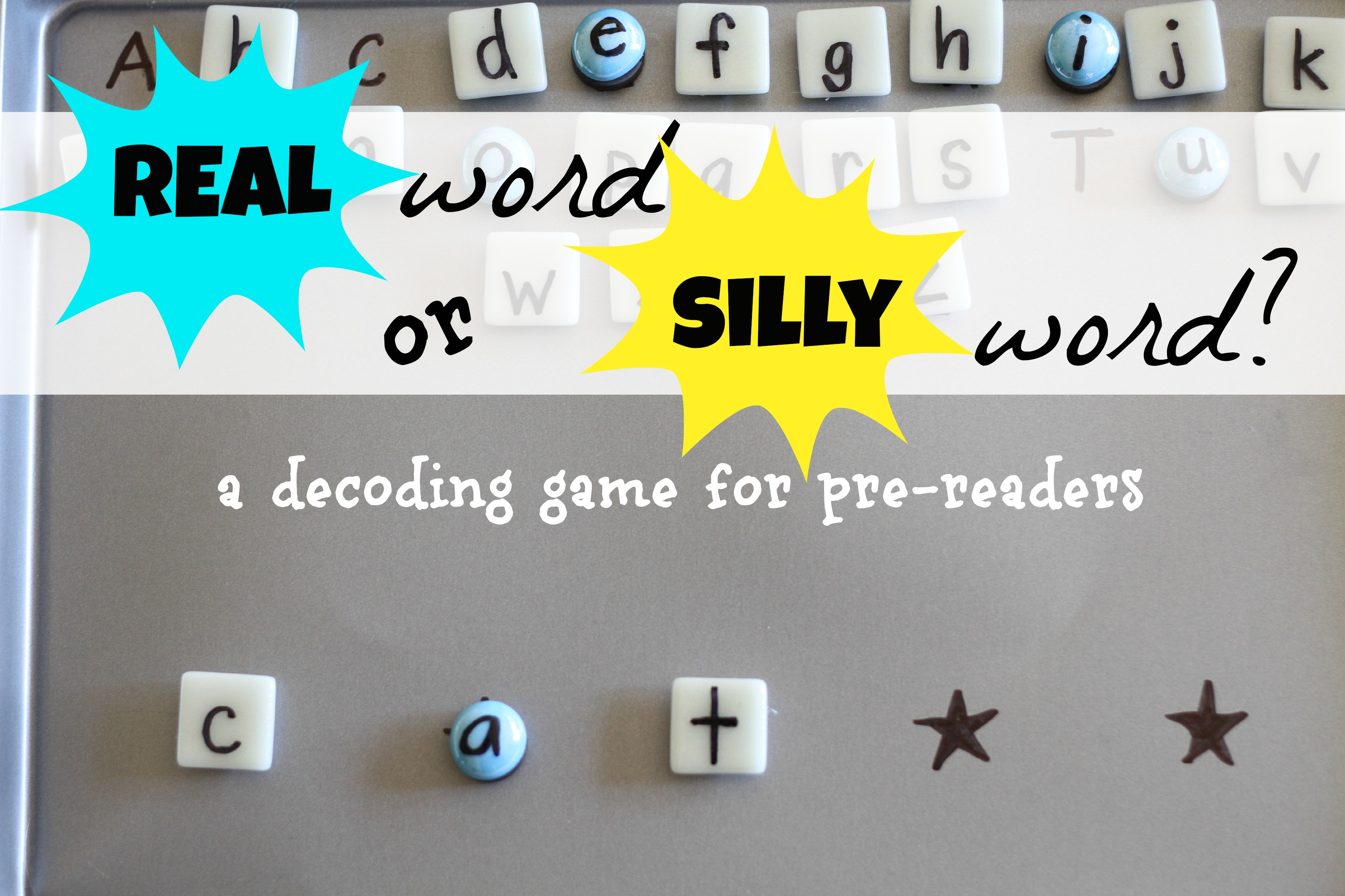 Real word or silly word decoding game for pre readers i can this is ibookread
