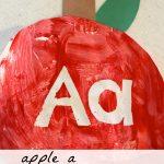 """Apple """"A"""" Peel-Away Art"""