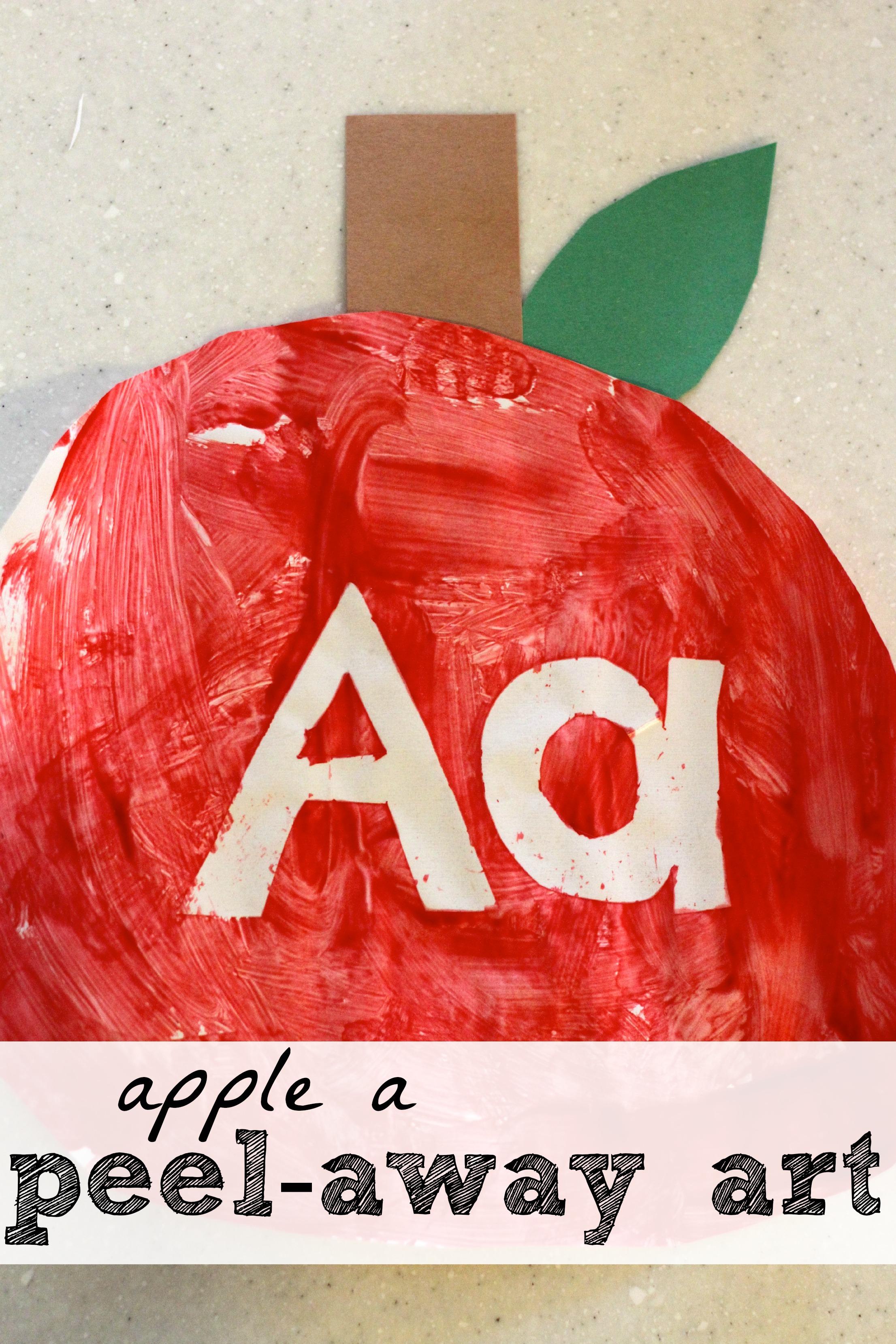 apple a peel away art i can teach my child