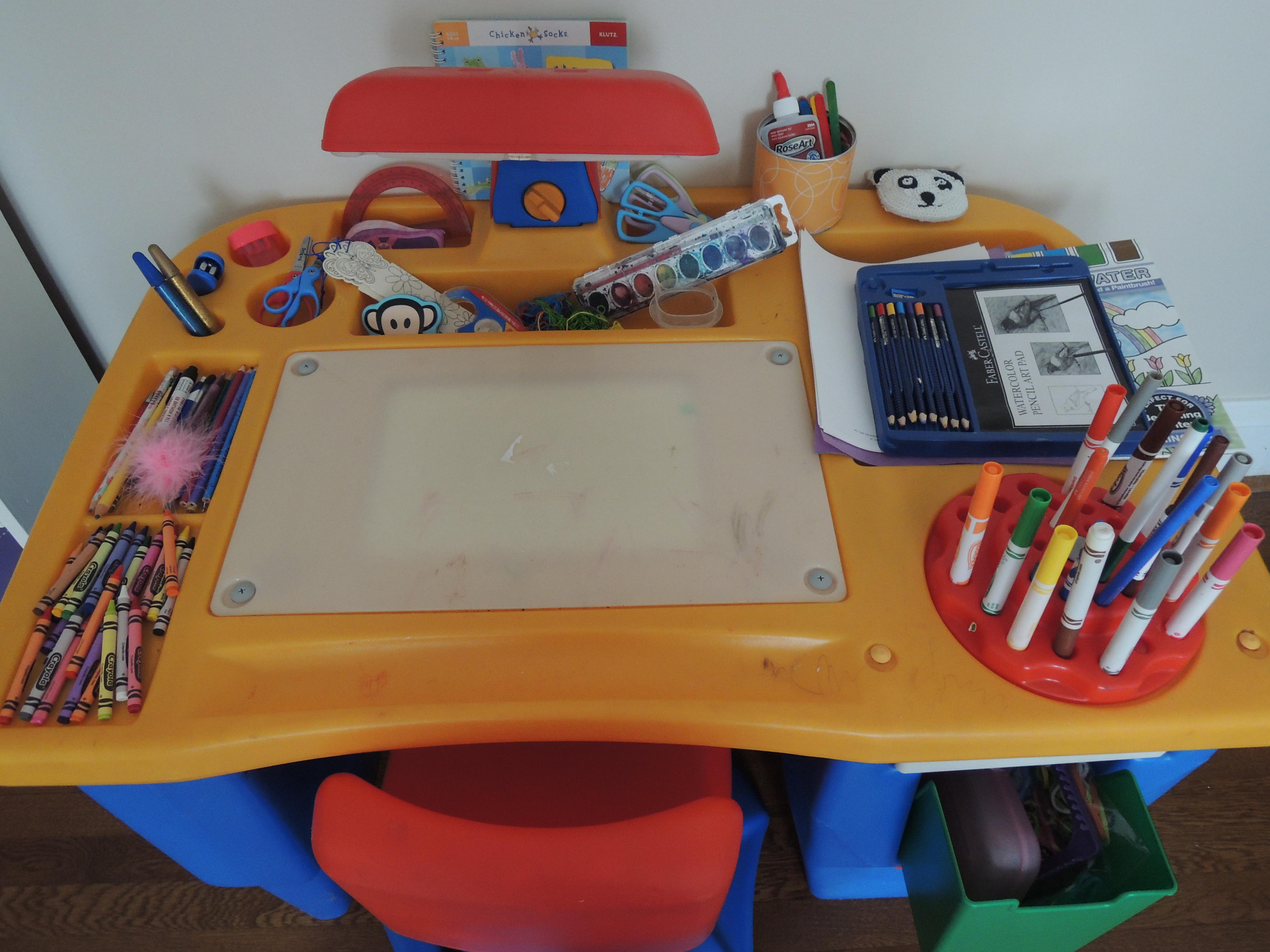 at her art desk - Childs Desk