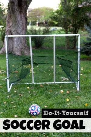 DIY Soccer Goal PVC fencing 300x450 How to Make a PVC Soccer Goal