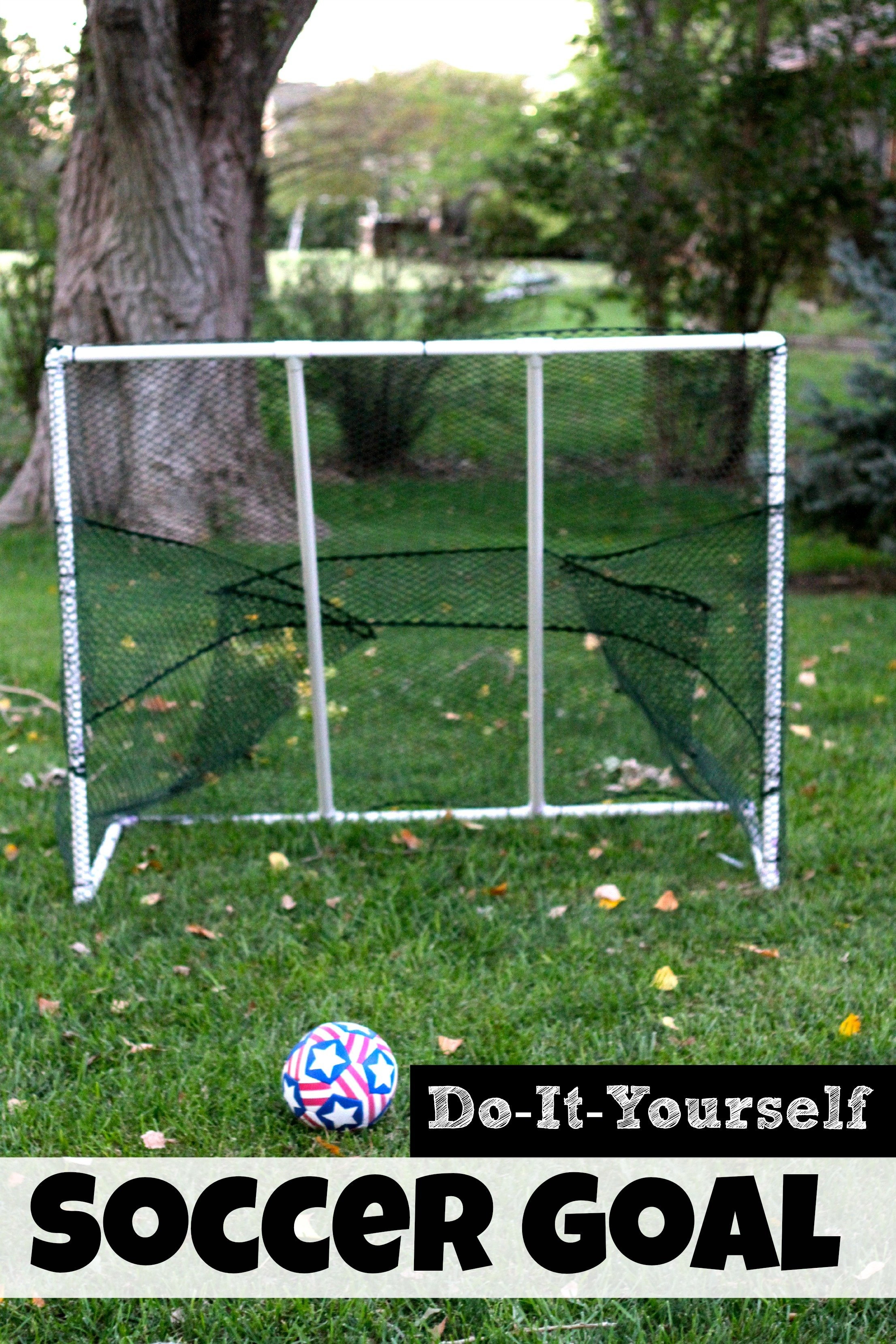 Being frugal sally how to make a pvc soccer goal i can