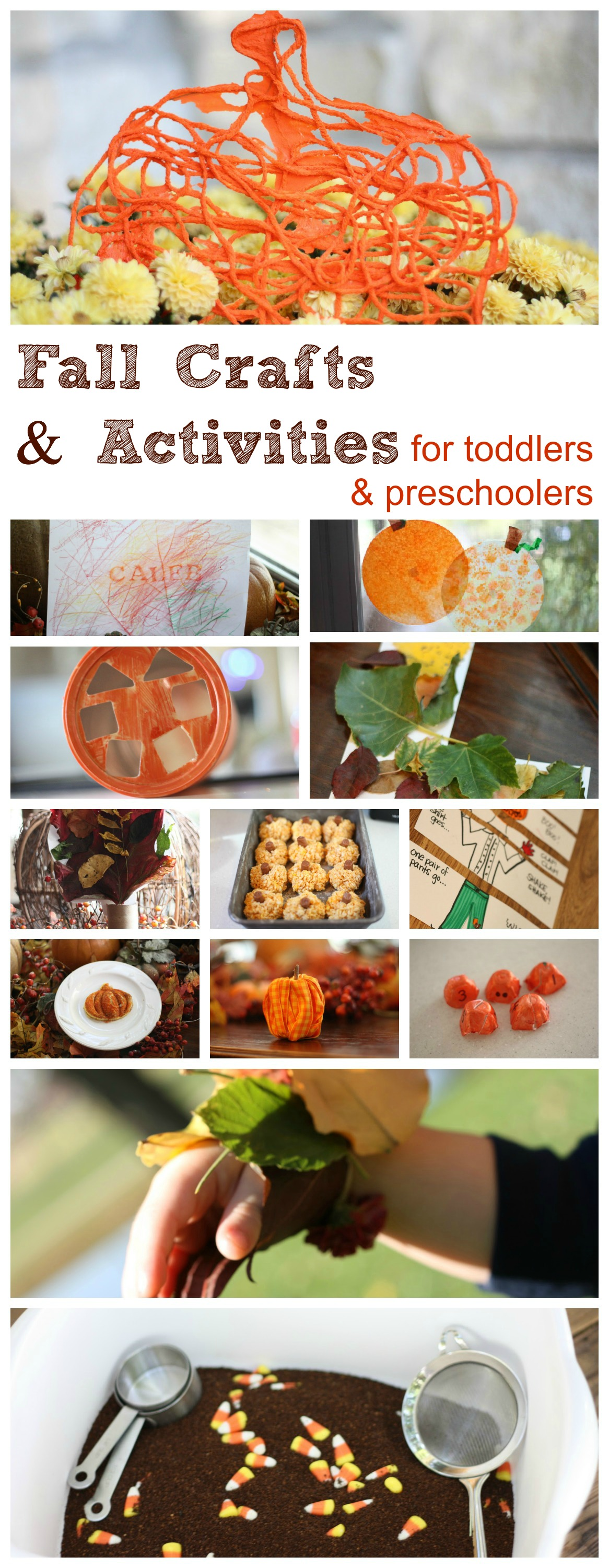Fall crafts and activities for preschoolers and toddlers for Fall ideas crafts