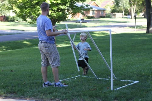 IMG 4877 500x333 How to Make a PVC Soccer Goal