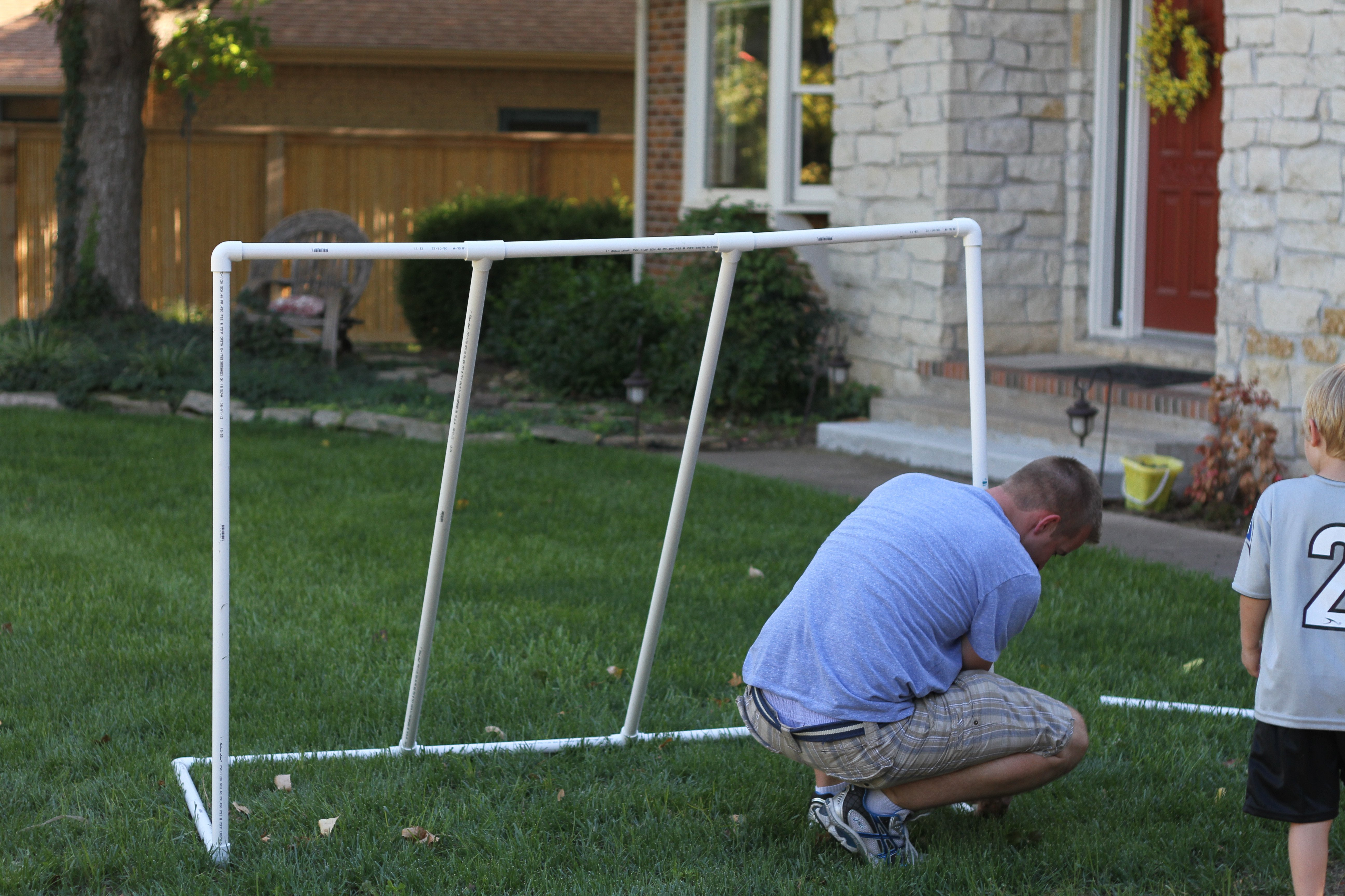 how to make a pvc soccer goal