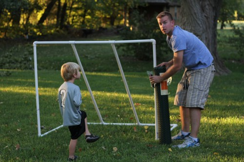 IMG 4903 500x333 How to Make a PVC Soccer Goal