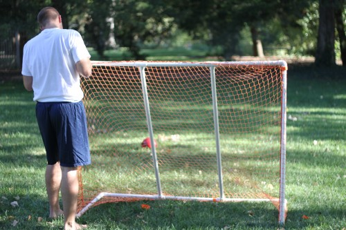 You'll use the Velcro straps (that come with it) to secure it on the goal. If you want some extra strength, you can use some extra zip ties around the goal ...