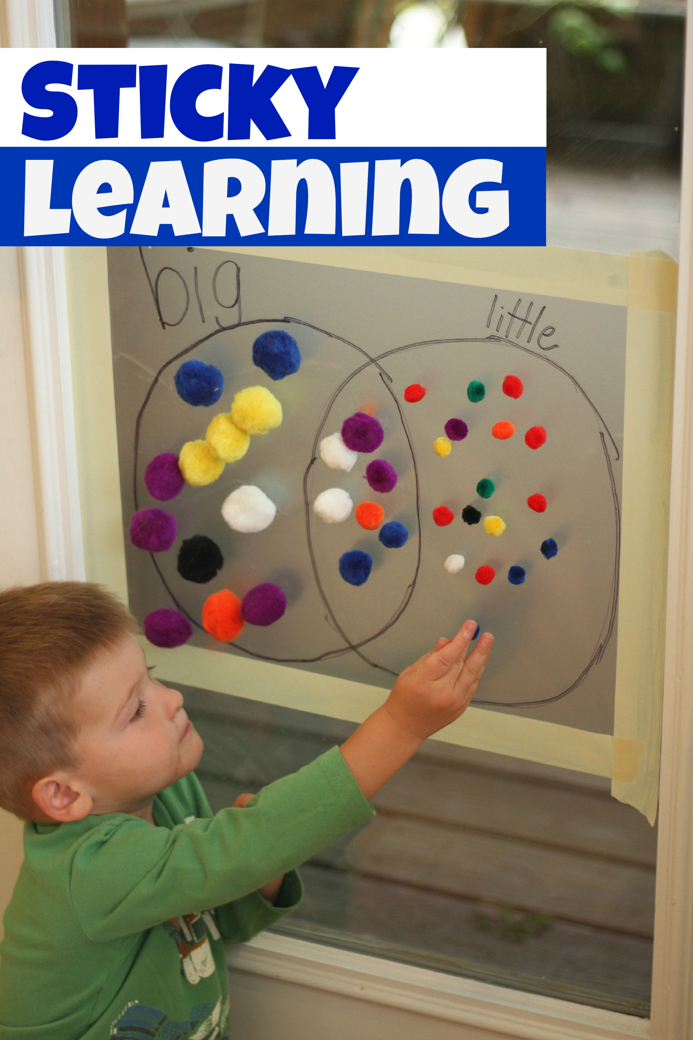 Sticky learning for Educational crafts for toddlers