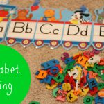 Alphabet Sorting 150x150 Floor Tape Letters